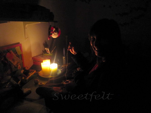 'A luz das velas ... by sweetfelt \ ideias em feltro