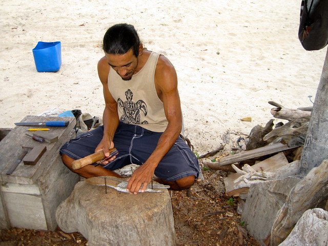 local wood carver placencia belize