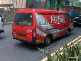 Coca-Cola van in Singapore