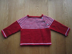 Simply stripy baby jumper