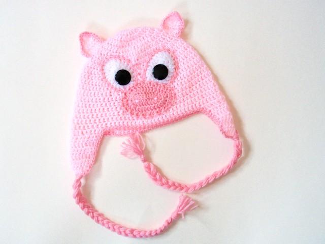 Crochet Pattern Pig Hat : Crochet Pig Hat Flickr - Photo Sharing!