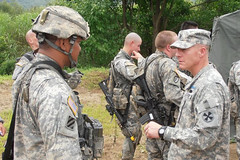 Eighth Army CSM visits Expert Infantry Badge test site