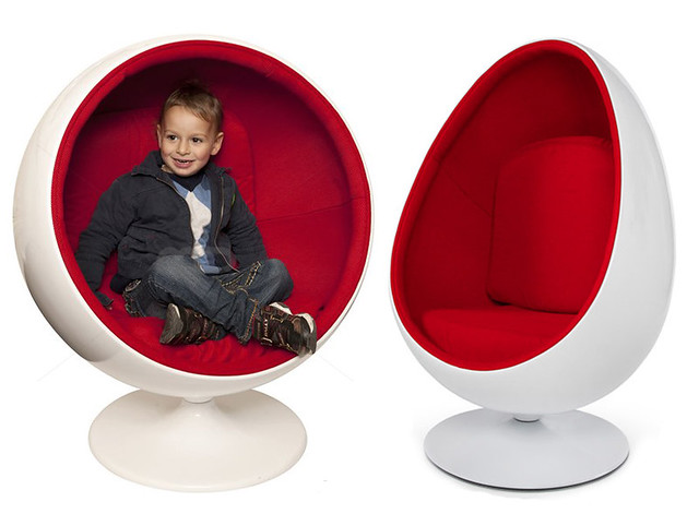 fauteuil design enfant oeuf pod et ball chair blanc rouge neuf ebay. Black Bedroom Furniture Sets. Home Design Ideas