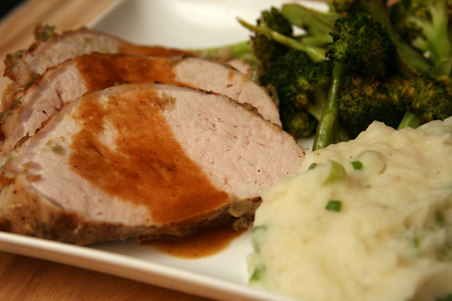 herb roasted pork loin 6