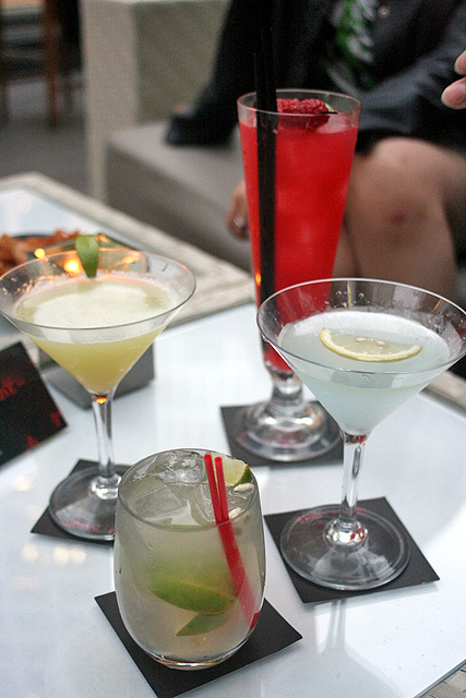 Cocktails, including their signature Wasabi Green Apple Martini