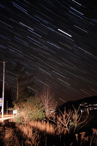 Star Trails At Great Sacandaga Lake, New York, Dec 24-25 2011