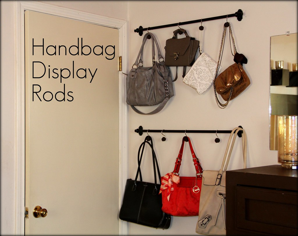 Kristina j diy ideas diy style turn your handbags into - How to hang bags in closet ...