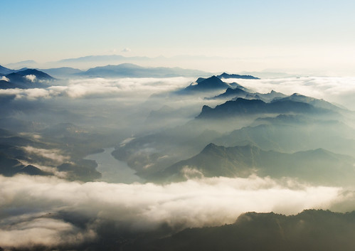 [フリー画像素材] 自然風景, 山, 雲, 霧・霞, 風景 - スペイン ID:201112300600