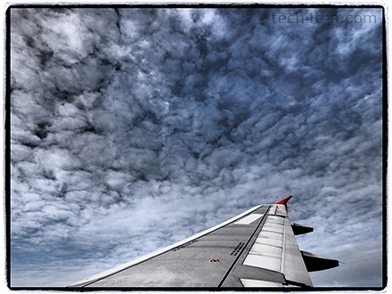 View out of our Air Asia flight. Taken with Olympus PEN E-P3 with Dramatic Tone Effect and Frame Filter.