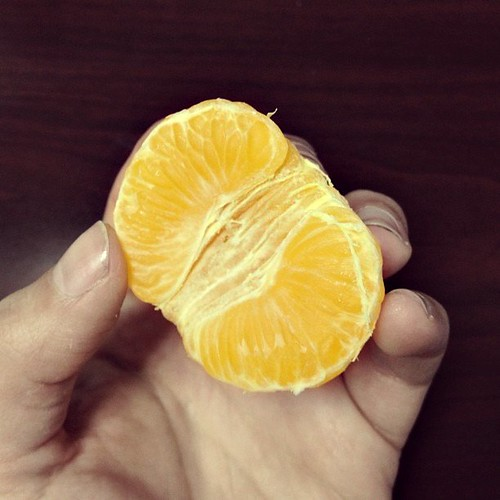 just me and this orange. alone. until the end of time.