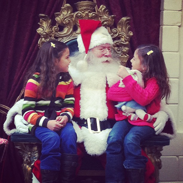 sweetie girls chat with santa