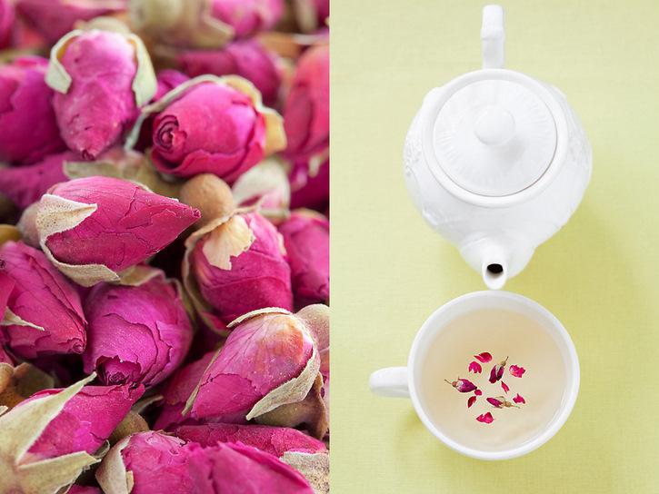 Dried roses tea