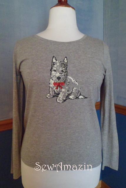 Westie t-shirt makeover