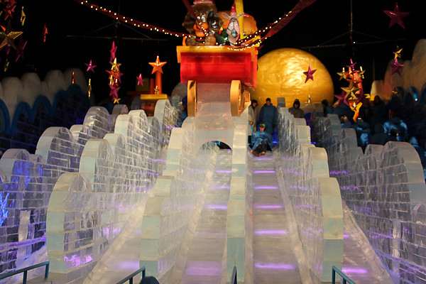 ice slides at merry madagascar