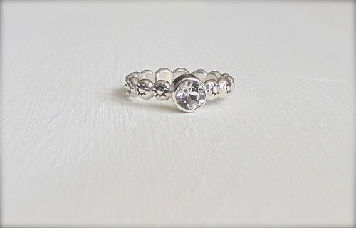 Sterling Silver and White Topaz by Amy Nicole Artisan Jewelry