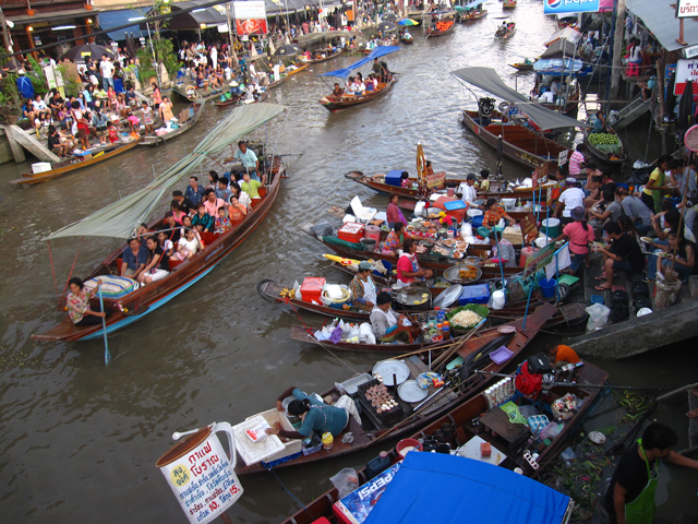 how to go to floating market