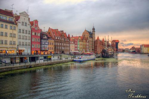 travel sunset water canon river poland polska balticsea polen ostsee hdr gdansk danzig 500d canon500d