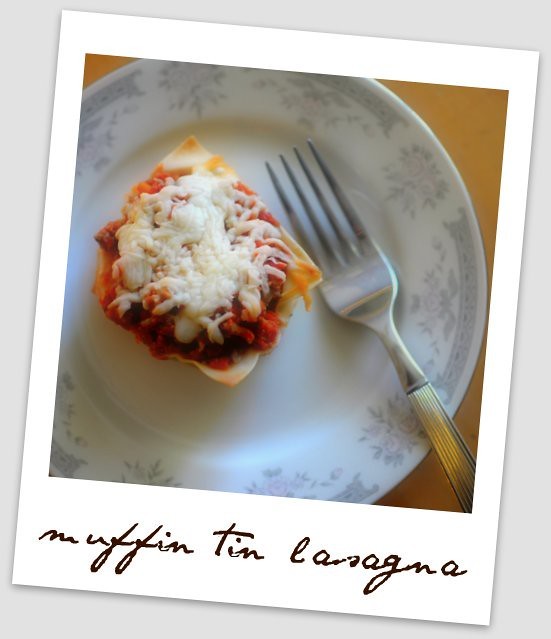 muffin tin lasagna