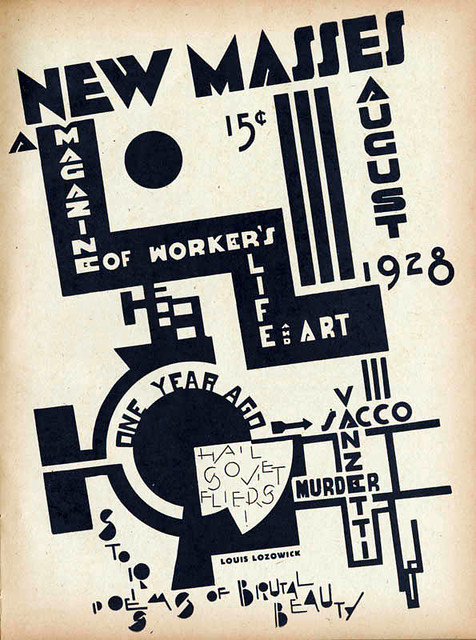 Louis Lozowick, New Masses Cover Aug. 1928