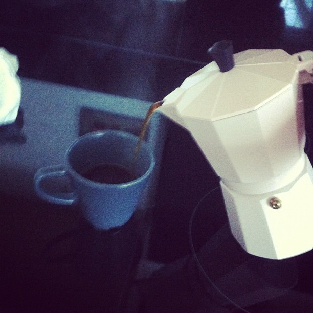 Having fun with my new moka pot