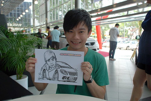 Caricature live sketching for Tan Chong Nissan Almera Soft Launch - Day 1 - 19