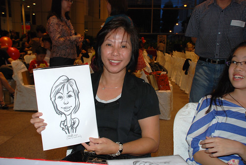 caricature live sketching for kidsREAD Volunteer Appreciation Day 2011 - 9