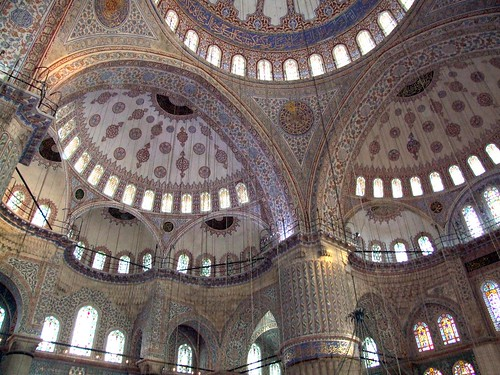 Ceiling at the Blue Mosque 2