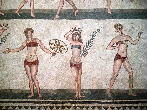 IMG_9031 - Piazza Armerina (EN) - villa romana del casale - mosaico - le ragazze in bikini