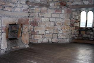 skipton castle upper interior chamber fireplace