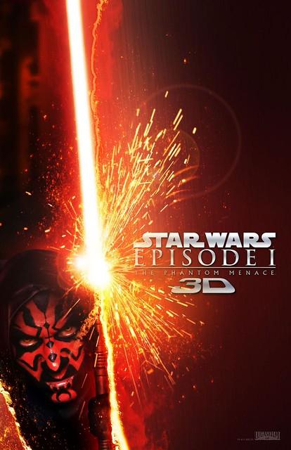 Star Wars Episode I The Phantom Menace 3D - Poster 3