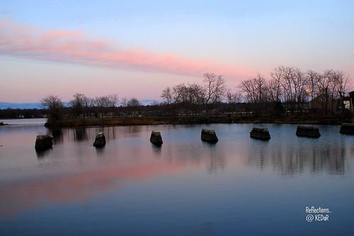 sunset sky newyork reflection love water beautiful clouds romantic flickraward