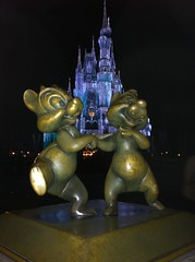 Chip 'N Dale in front of Cinderella's Castle