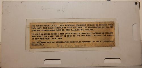 IBM  Gauge card (rear)