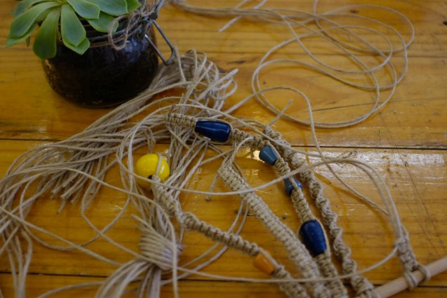 Make Your Own Macrame Hanger with Stampel Studio - January 2012