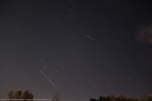 Geminid meteors 2011