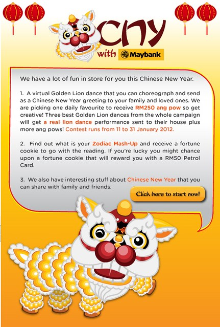 Create Chinese New Year e-Card with new Maybank App - I Come, I See ...