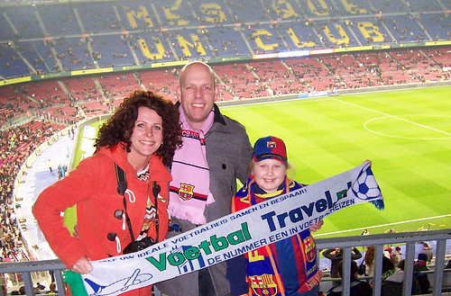 Familie Vink in Camp Nou