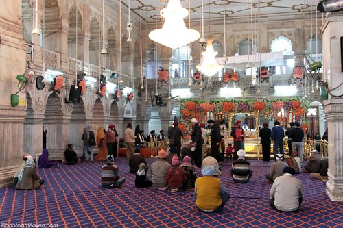 Inside the Sikh Temple