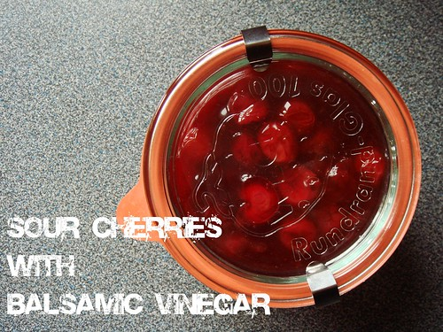 Sour Cherry Topping with Balsamic Vinegar