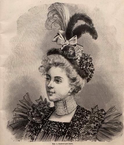 004-Sombrero para teatro- La Última moda-revista ilustrada hispano-americana, del 14 de febrero de 1897-copyright MemoriadeMadrid
