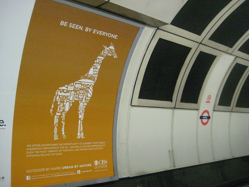 CBS Outdoor Tube Poster - Giraffe
