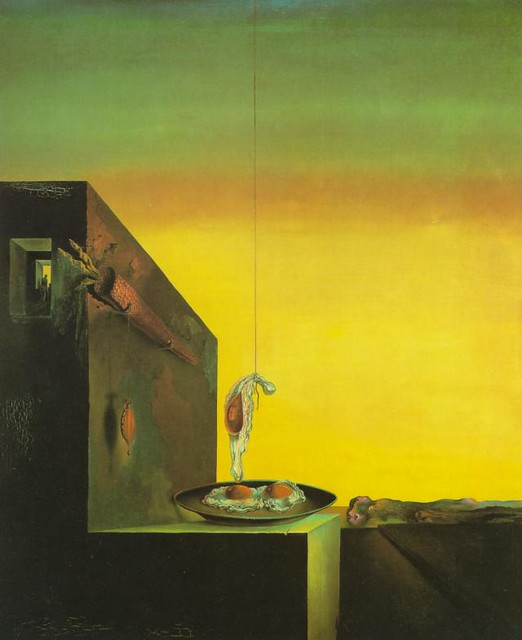 Salvador Dali - Eggs on the Plate Without the Plate 1932