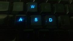 Razer keyboard at night