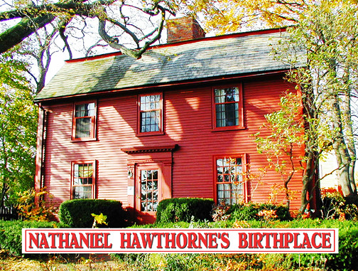 a description of nathaniel hawthorne born in salem massachusetts Author nathaniel hawthorne left many traces behind in salem,  by the time nathaniel was born on the 4th of july 1804, the family holdings.