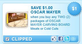 Oscar Mayer Carving Board Meats Or Cold Cuts Coupon