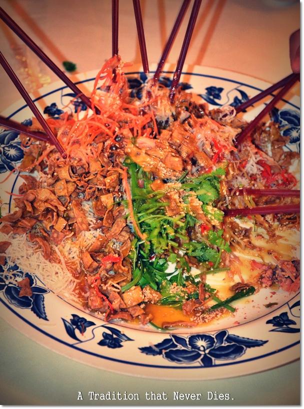 Yee Sang @ Tuck Kee Restaurant