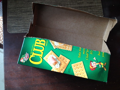 recycled cracker box