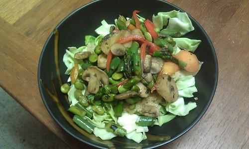 Stir fry with asparagus by VlinderM