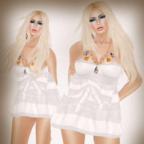 A&A Fashion Serena Dress white