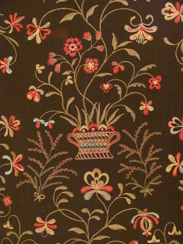 Embroidered coverlet detail